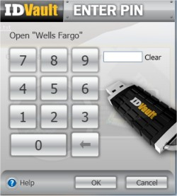 You must enter your secure PIN along with the ID Vault device to access any secure data.