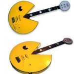 Retro Pac-Man guitar for the arcade rocker