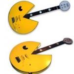 Retro Pac-Man guitar for the arcade rocker