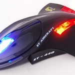 Stealth aircraft mouse with LED lights