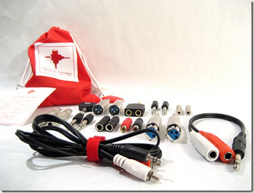 Emergency adapter kit for electronic musician's