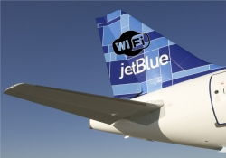 Airlines such as JetBlue and American Airlines to get in-flight internet access