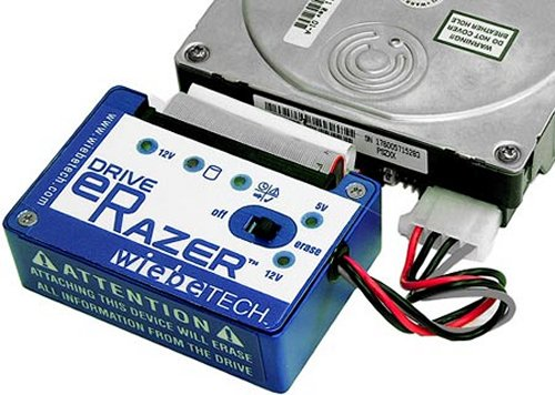 eRazer erases hard drives