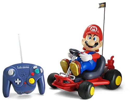 Giant r/c Mario Kart racer