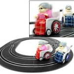 Track racing grannies slot car set