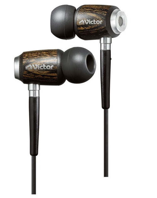 JVC HP-FX500 Victor ear buds made of wood