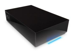 Lacie Hard Disk with a distinctive blue light strip
