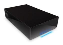 Lacie Hard Disk with a distinctive blue light strip