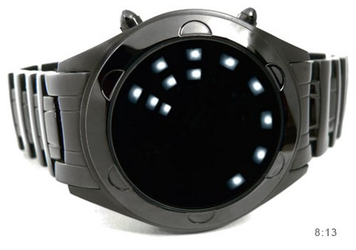 Oberon watch tells time with LED lights
