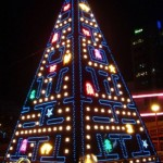 Tis the season: Pac-Man Christmas tree