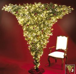Upside down Christmas tree