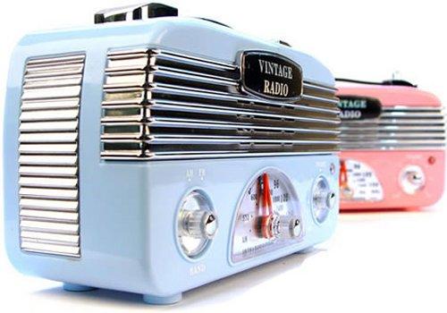 Design Town vintage style radio - SlipperyBrick.com
