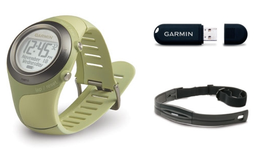 Garmin 405 Forerunner GPS watch tracks routes while running and uploads to your computer without wires