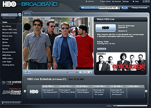 HBO on Broadband trial bring HBO video to the internet for download