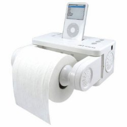 iPod dock & toilet roll dispenser