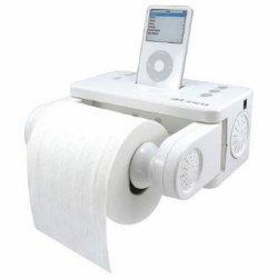 iPod dock & toilet roll dispenser