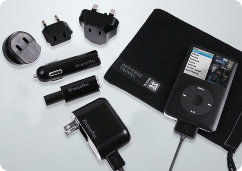 XtremeMac InCharge Home and InCharge Travel chargers for the iPhone and iPod