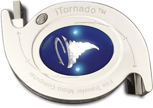 iTornado USB data transfer gadget between PC's or PC and Mac