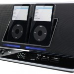 JVC dual iPod dock, clock radio