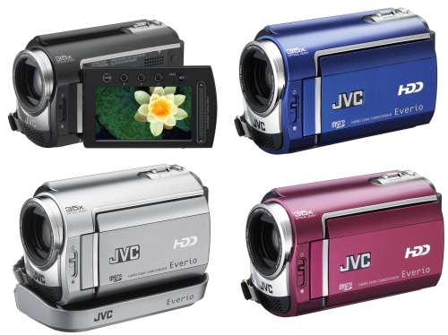JVC Everio new line of hard disk camcorders