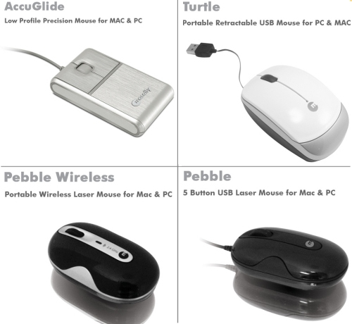 Macally launches new mice - Accuglide, Pebble Wireless, Pebble and the Turtle