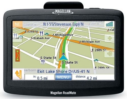 Magellan RoadMate 1400 series GPS units feature a widescreen display