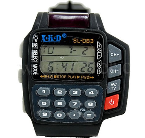 Multimedia remote watch for control freaks