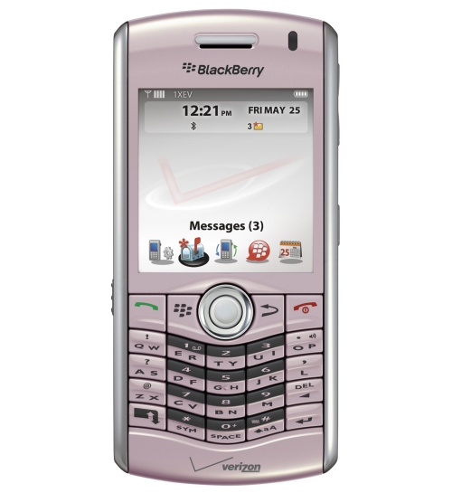Pink BlackBerry Pearl from Verizon Wireless