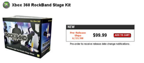 Rock Band Stage Kit adds smoke & lights