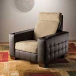 Olivia recliner makes home theater seating plush