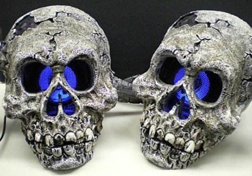 Scare up some sound with skull speakers