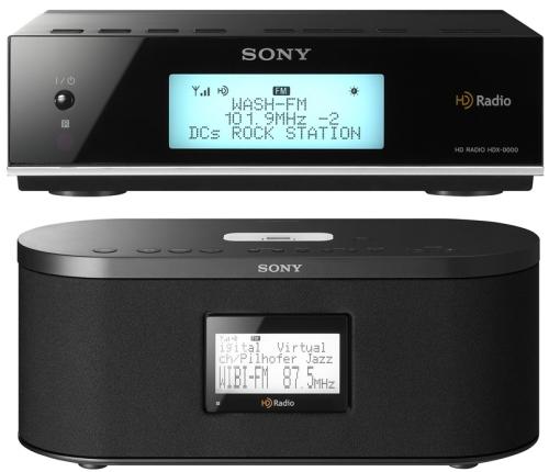 Sony XDR-F1HD Tuner and XDR-S10HDiP HD Radio