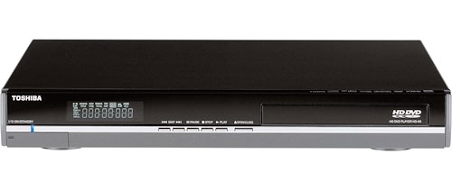 Toshiba HD-A3 HD DVD player showing another big sale for HD DVD support