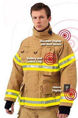Firefighters thermal sensor jacket