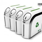 Barcode Trashcan seperates recyclables electronically