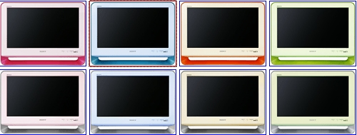 Bravia M1 Series LCDs from Sony will come in a variety of color combinations
