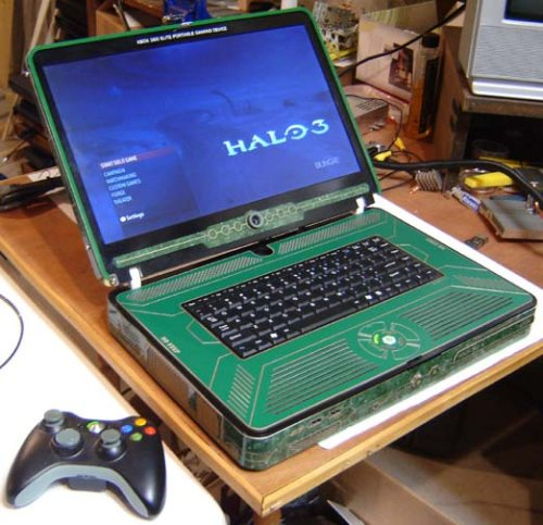Xbox 360 Elite laptop
