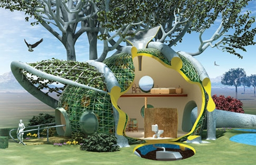 Fab tree hab grows homes from native trees for a green community