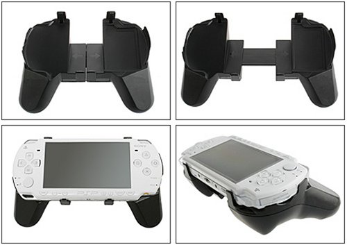 Flexible handgrip controller mount for the Sony PSP