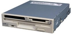 Floppy disk drive with built in memory card reader