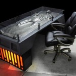 Han Solo frozen in carbonite, as your desk