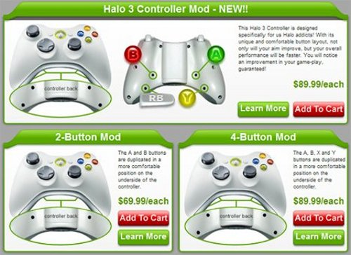 HG custom modded Xbox 360 controllers
