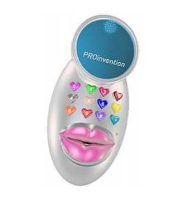 Kiss phone detects the intensity of virtual kisses
