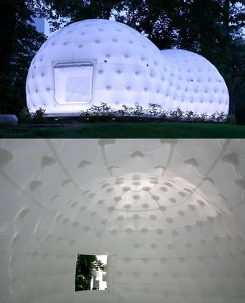 This Japanese teahouse resembles a futuristic glowing peanut SPACESHIP with