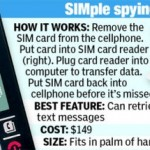 SIM card reader reads deleted text messages on your cell