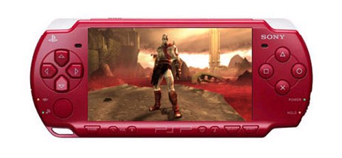 New red PSP bundled with God of War