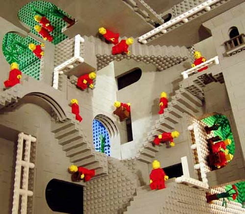 Relativity build out of legos