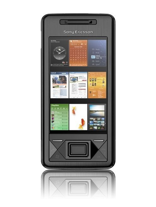 Sony Ericsson XPERIA X1 mobile phone front view featuring Windows Mobile and full QWERTY keyboard