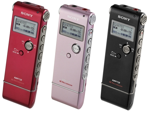 Sony UX Series Voice Recorders record MP3 in stereo