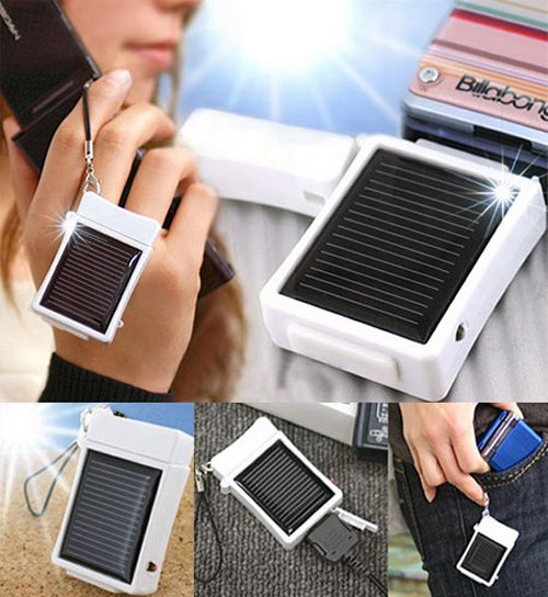 Strapya mini solar cell phone charger